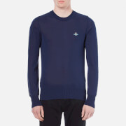 Vivienne Westwood MAN Mens Classic Round Neck Knitted Jumper  Navy  S