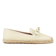 REDValentino Women's Eyelet Bow Leather Espadrilles - White