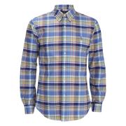 Polo Ralph Lauren Mens Checked Button Down Shirt  Blue  M