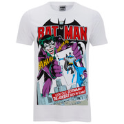 DC Comics Men's Batman Joker's Back in Town T-Shirt - White