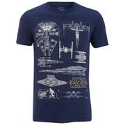 Star Wars Men's Fleet Schematic T-Shirt - Navy