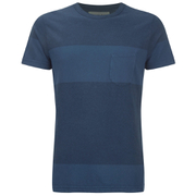 Universal Works Men's Stripe Pocket T-Shirt - Blue