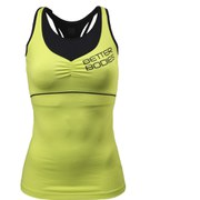 Better Bodies Women's 2 Layer Logo Tank Top - Lime