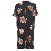 VILA Women's Nadine Short Sleeve Shirt Dress - Black