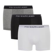 Polo Ralph Lauren Mens 3 Pack Boxer Shorts  WhiteHeatherBlack  S