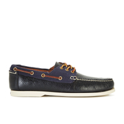 Polo Ralph Lauren Men's Bienne II Leather/Canvas Boat Shoes - Newport Navy