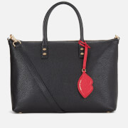 Lulu Guinness Women's Frances Medium Tote Bag with Lip Charm - Black