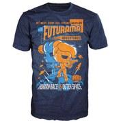 Futurama Adventures Pop! TShirt  Blue  L
