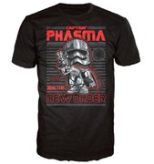 T-Shirt Pop! Homme Star Wars Le Réveil de la Force - Captain Phasma Poster - Noir