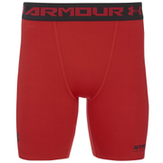 Under Armour Mens Heatgear Compression Shorts – Red