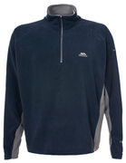 Trespass Men's Tron AirTrap100 1/2l Zip 2 Tone Fleece Jumper - Navy Blue