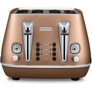De'Longhi CTI4003.CP Distinta 4 Slice Toaster - Copper Finish
