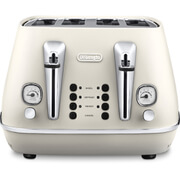 De'Longhi CTI4003.W Distinta 4 Slice Toaster - White Finish