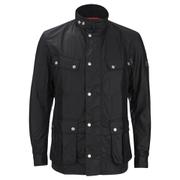 Barbour International Mens Enfield Wax Jacket  Black  XL