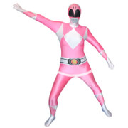 Morphsuit Power Rangers -Adulte -Rose