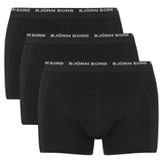 Bjorn Borg Men's 3 Pack Trunk Boxer Shorts - Black - S