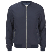 J.Lindeberg Men's Zipped Bomber Jacket - Navy