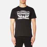 Levi's Men's Two Horse Graphic Set-In Neck T-Shirt - Black