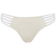 Paolita Womens Solid Golden Hind Bikini Bottoms  Cream  SUK 8