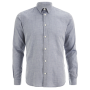 Folk Men's Grid Check Shirt - Navy