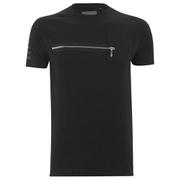 T -Shirt Eclipse pour Homme Drake Zip -Noir