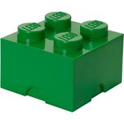 LEGO Storage Brick 4   Dark Green