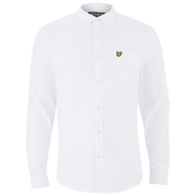 Lyle & Scott Men's Long Sleeve Oxford Shirt - White