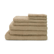 Highams 100% Cotton 7 Piece Towel Bale (550gsm) - Latte