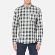 A.P.C. Mens Surchemise Trevor Check Shirt  Ecru  S