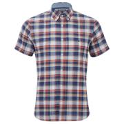 Tommy Hilfiger Men's French Check Short Sleeve Shirt - Dutch Navy