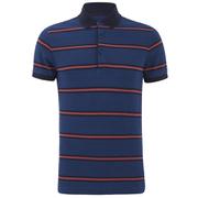 Tommy Hilfiger Men's Barney Striped Polo Shirt - Dark Indigo