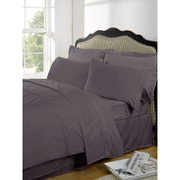 Highams 100% Egyptian Cotton Plain Dyed Fitted Sheet - Vintage Mauve