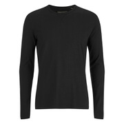 Brave Soul Men's Prague Long Sleeved Top - Black