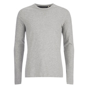 Brave Soul Men's Prague Long Sleeved Top - Light Grey