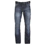 Crosshatch Men's New Embossed Techno Straight Fit Jeans - Dark Wash