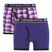 Boxers Crosshatch -Violet -Lot de 2