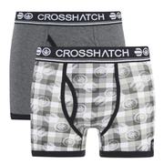 Boxers Crosshatch -Gris -Lot de 2