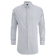 Scotch & Soda Men's Striped Oxford Shirt - White