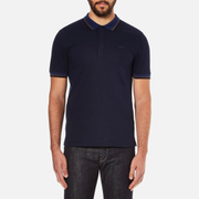 HUGO Men's Darese Collar Detail Polo Shirt - Navy
