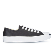 Converse Jack Purcell Unisex Leather Trainers - Black/White