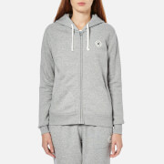 Converse Women's Full Zip Hoody - Vintage Grey Heather - XL