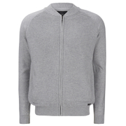 Threadbare Men's Tallinn Knitted Bomber Jacket - Grey Marl