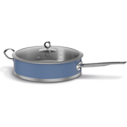 Morphy Richards 973033 Accents Saute Pan with Glass Lid - Cornflower Blue - 28cm