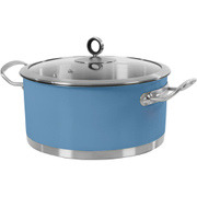 Morphy Richards 973037 Accents Casserole Dish - Cornflower Blue - 24cm