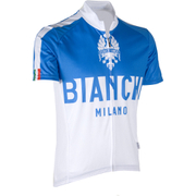 Bianchi Men's Nalon Short Sleeve Jersey - White/Blue