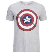 Marvel Captain America Shield Heren T-Shirt - Grijs