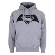 Sweatshirt à Capuche pour Homme -DC Comics Logo Batman v Superman -Gris