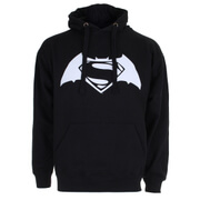 DC Comics Men's Batman v Superman Logo Hoody - Black