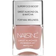 nails inc. Powered by Matcha King William Walk Sweet Almond Nail Varnish 14ml