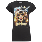 Harry Potter & Freunde Damen T-Shirt - Schwarz